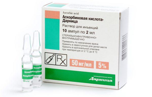 Аскорбиновая кислота в растворе для инъекций
